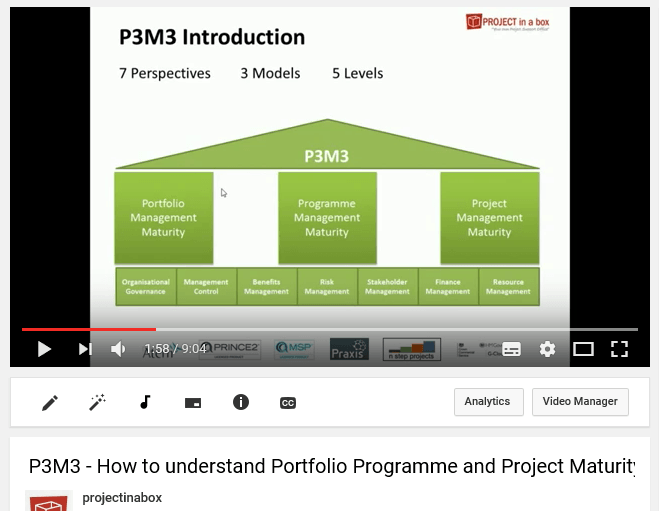 project management maturity; prince2 software