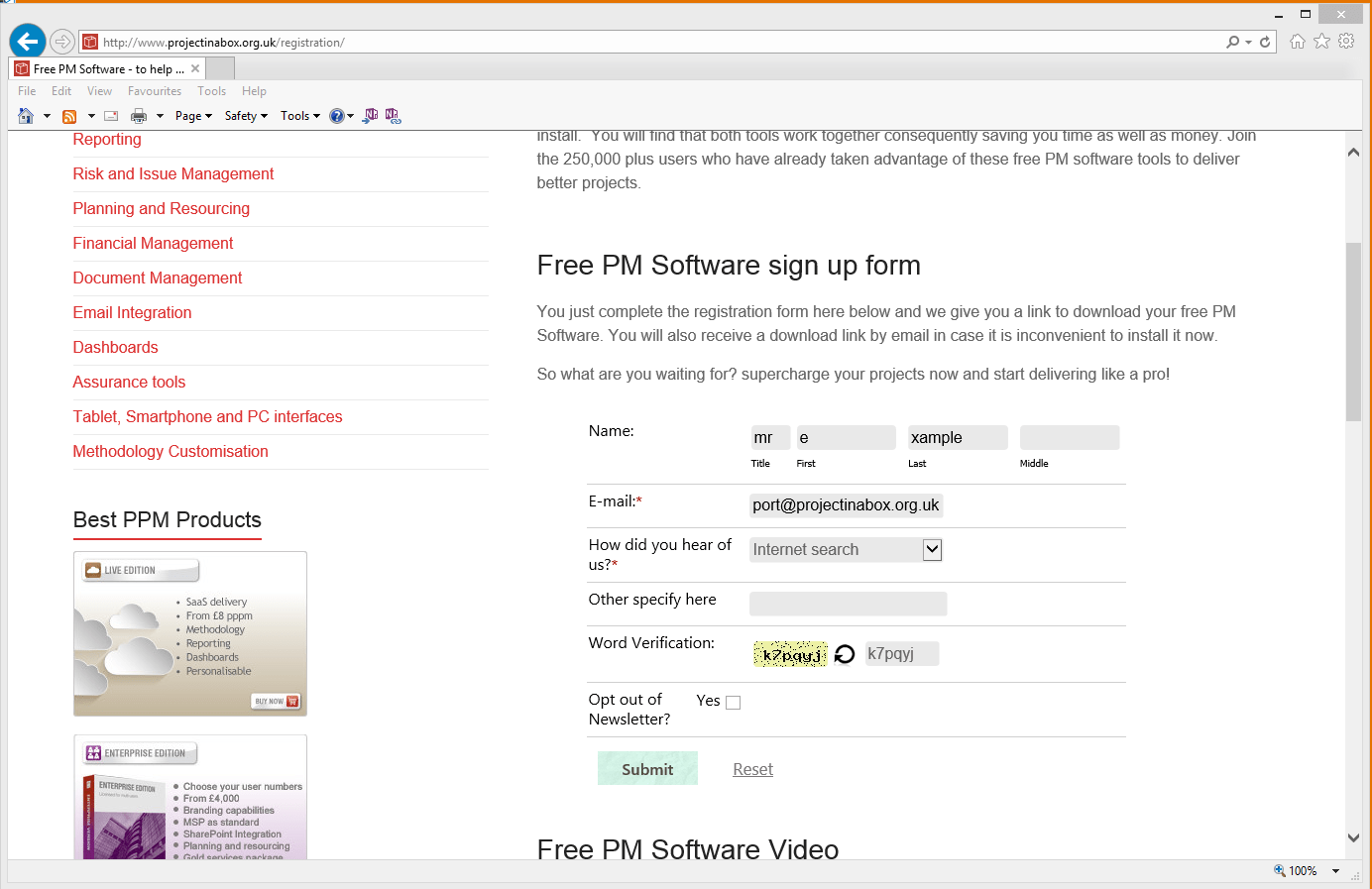Free PM software