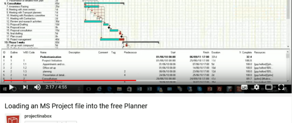 ms Project transfer; ms project alternative; free project planning software